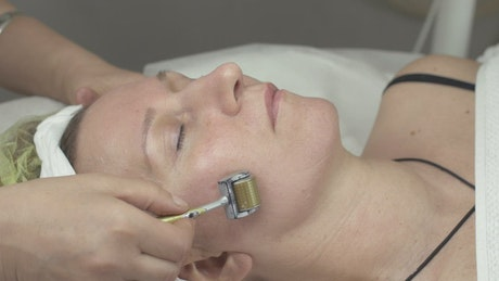 Face treatment at a Beauty Salon