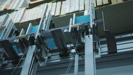 Factory machine working