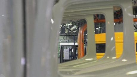 Factory producing trucks