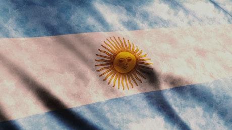 Faded Argentina 3D flag
