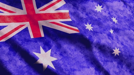 Faded Australian waving flag