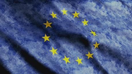 Faded European Union Flag