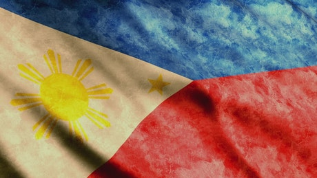Faded flag of Philippines