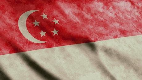 Faded Singapore flag