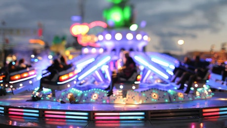 Fair game with lights circling