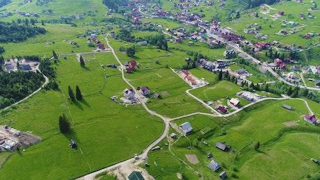 Farmer village, aerial shot