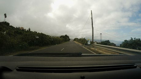 Fast driving through the road