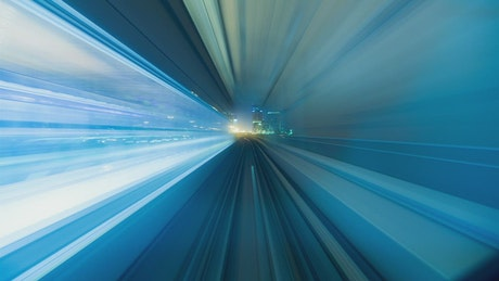Fast journey in the Dubai metro