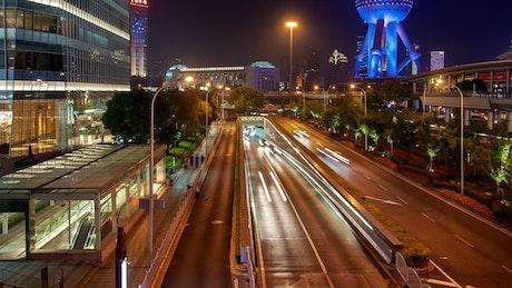 Fast traffic in a Shanghai street