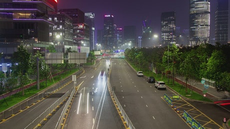 Fast traffic on a Shenzen road