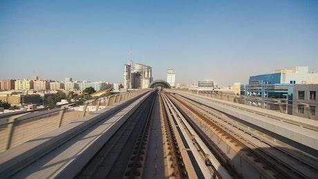 Fast travel in the Dubai metro