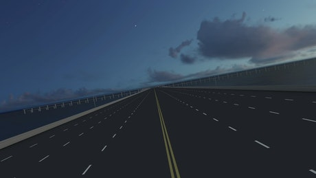 Fast virtual tour of a 3D highway