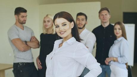 Female entrepreneur leader, portrait