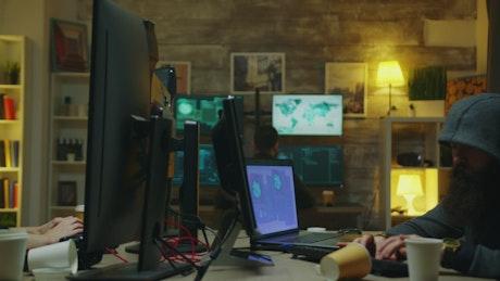 Female hacker wearing a mask