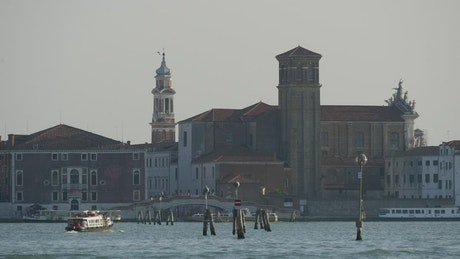 Ferrie arriving in Venice