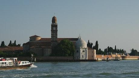 Ferrie sailing in Venice