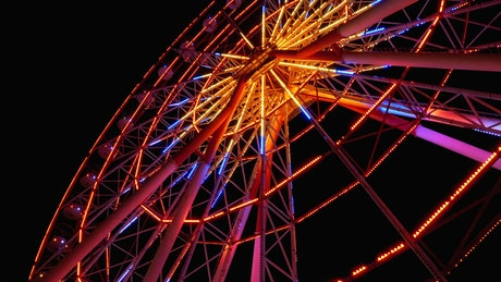 Ferris wheel with colored lights