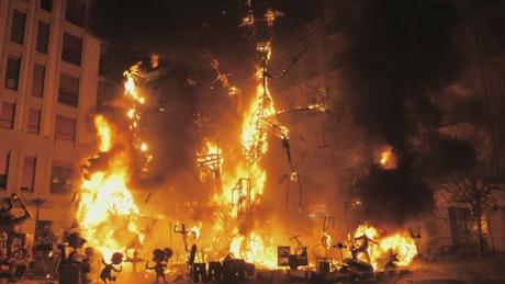 Festival fire in Valencia