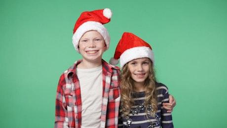 Festive children smiling