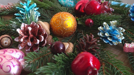 Festive decorations on a table