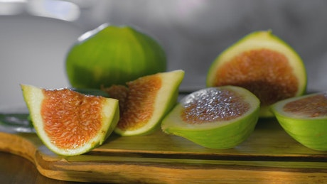 Figs and Basil leaves