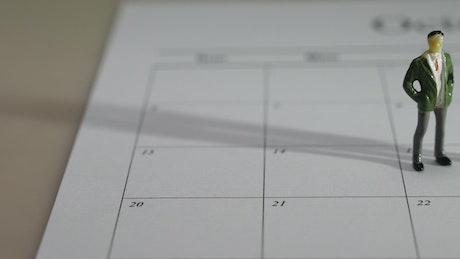 Figures on a calendar