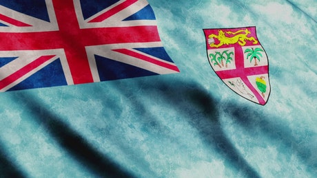 Fiji faded flag waving