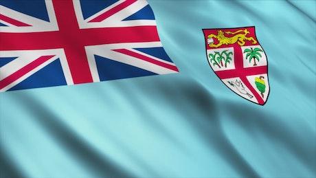 Fiji Islands 3D flag
