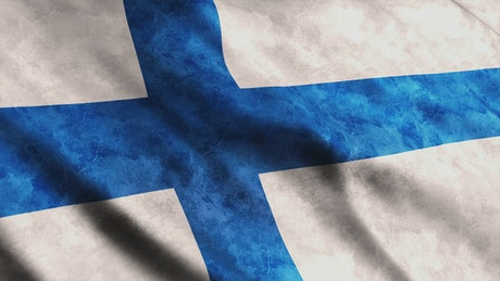 Finland flag animation while is waving