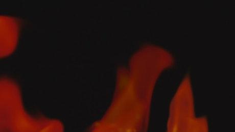 Fire in detail in the dark