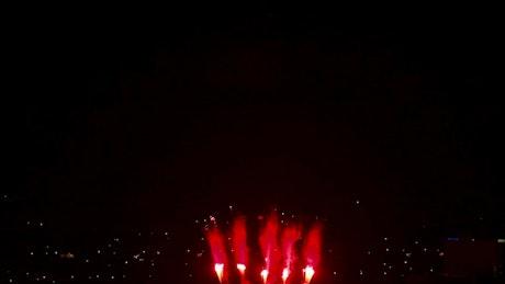 Firewoks celebration in the night sky