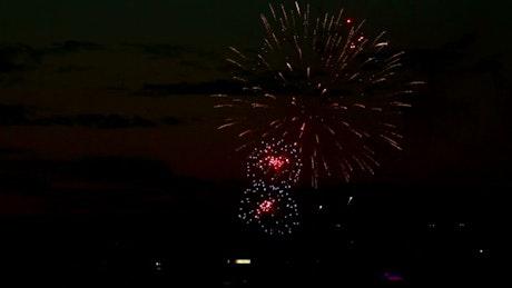 Firewoks lighting the night