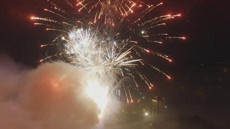 Firework display late at night