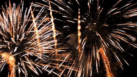 Fireworks at night sky