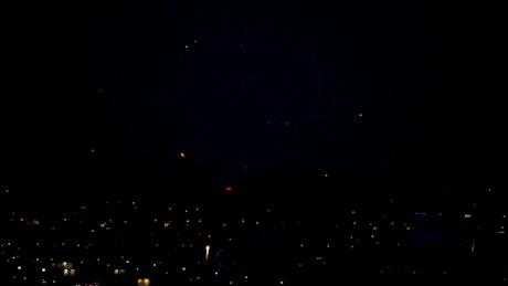 Fireworks celebration in the city