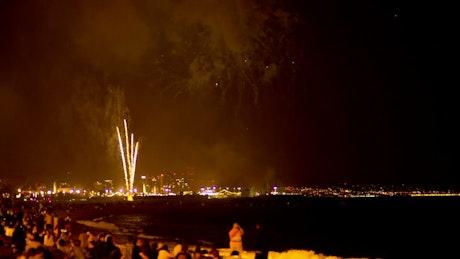 Fireworks in the beach