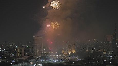 Fireworks over Thailand