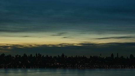 First light over New York