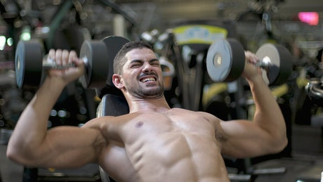 Fitness man training in the gym