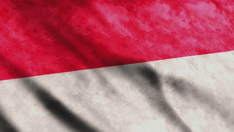 Flag from the country of Indonesia