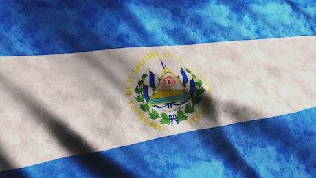 Flag of El Salvador of South America