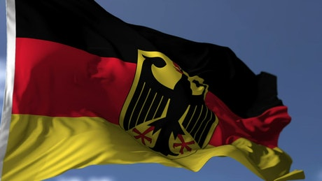 Flag of Germany waves gently in wind