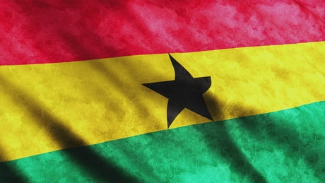 Flag of Ghana, African country