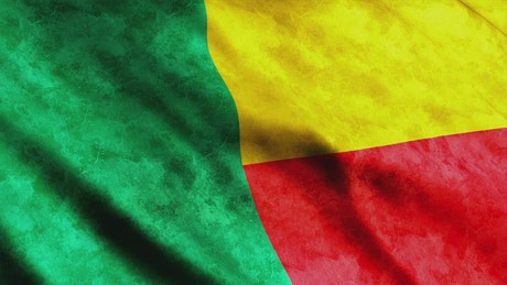 Flag of the African country Benin