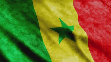 Flag of the African country of Senegal