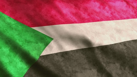 Flag of the African country Sudan