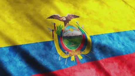 Flag of the American nation of Ecuador