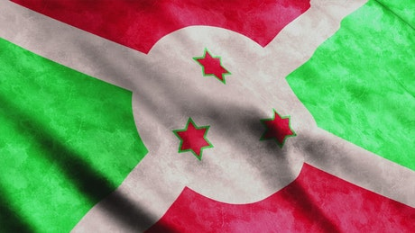 Flag of the country of Burundi in Africa