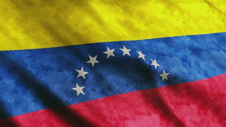 Flag of the country of Colombia in South America