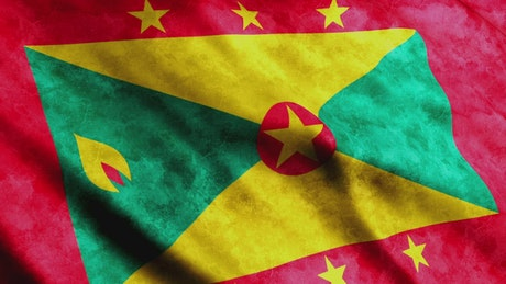 Flag of the country of Grenada in America